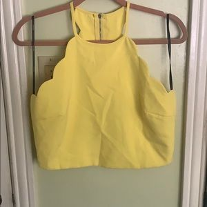 Yellow Crop Shirt